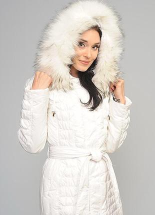 Крутой удлиненный пуховик-пальто,clasna