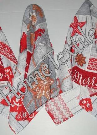 Вафельные полотенца набор 3 шт. новогодние