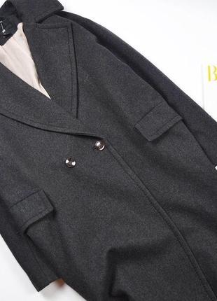 Очень классное шерстяное оверсайз пальто от h&m