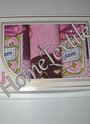 Вафельные полотенца набор 3 шт. варенье