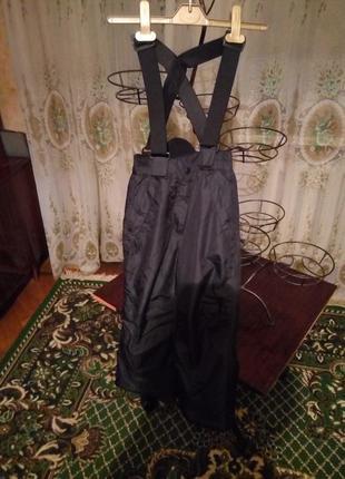 Зимние лыжные термо штаны полукомбинезон crane германия