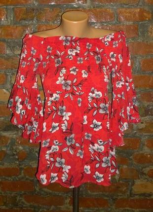 Топ блуза кофточка со спущенными плечами river island