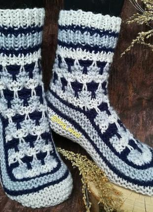 Шкарпетки з овечої вовни 36-37р носки тёплые носочки вязаные