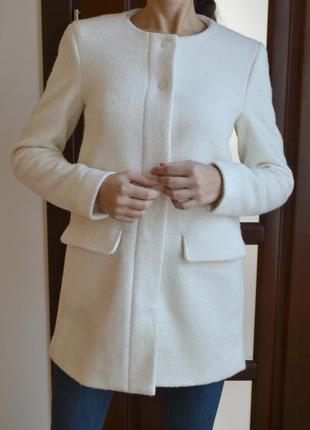 Пальто zara.40%шерсть