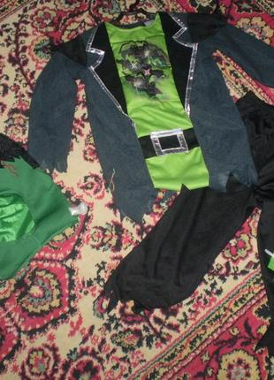 Карнавальный новогодний костюм франкенштейна 4-5 лет