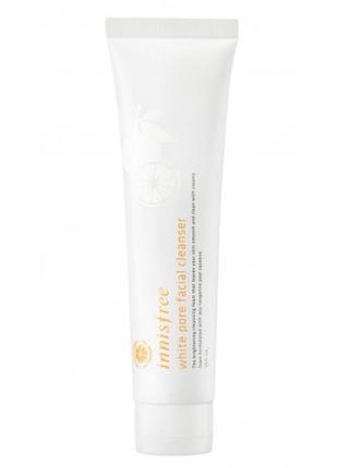 Осветляющая пенка для умывания white pore facial cleanser от innisfree