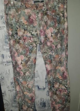 Крутые цветочные мягкие бархатистые вельветы - европ. 42 - на 14 р-р