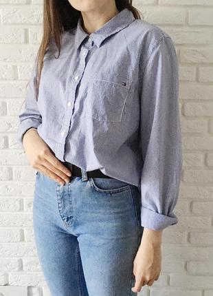 Рубашка в полоску от дорогого бренда
