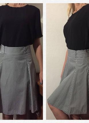 Обалденная💕новая💕 котоновая юбка в полоску