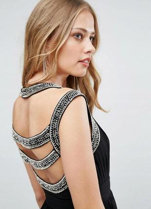 💙🎄✨ новорічний розпродаж! tfnc розкішна декорована чорна вечірня сукня
