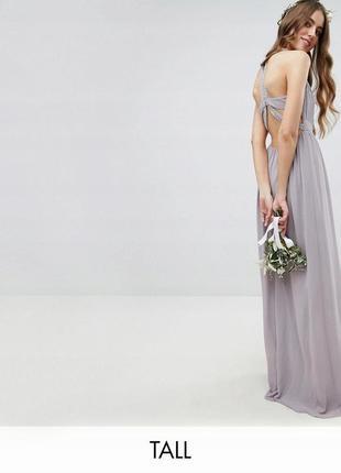 Tfnc чарівна лавандова бузкова вечірня сукня
