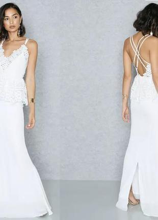 Платье в пол missguided uk6/euro34/xs-s