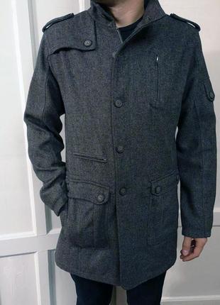 Lee cooper мужское шерстяное шерсть пальто на молнии размер м