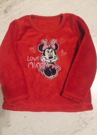 Плюшевый свитер george 2-3г 92-98 см
