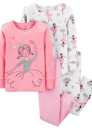 Піжамка піжама комплект для дівчинки пижама пижамка картерс carter's 18м