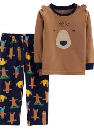 Піжама піжамка флісова для хлопчиків пижама пижамка флис carter's картерс 18м 24м