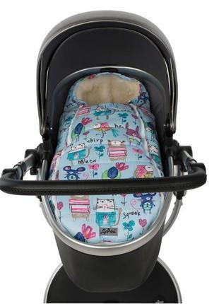 Конверт кокон для ребенка в коляску санки на выписку