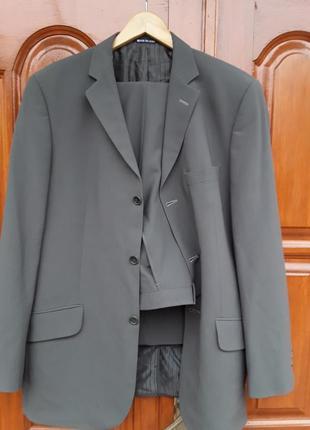 Брендовий англійський костюм river island,  шерсть, розмір 42анг.(м-l).