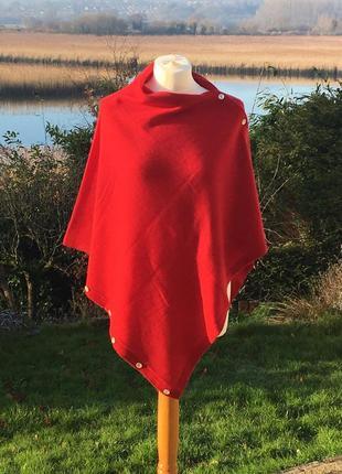 Кашемировое пончо шарф палантин cashmere queen