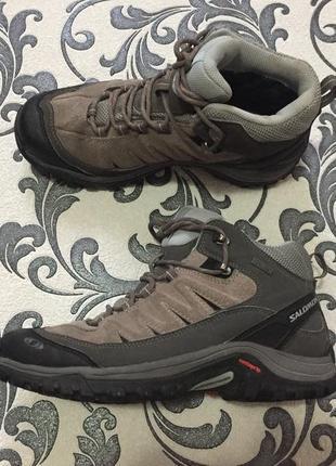 Кроссовки ботинки salomon 39 р. 24,5 см.  exit peak mid gtx w 440310 gore-tex