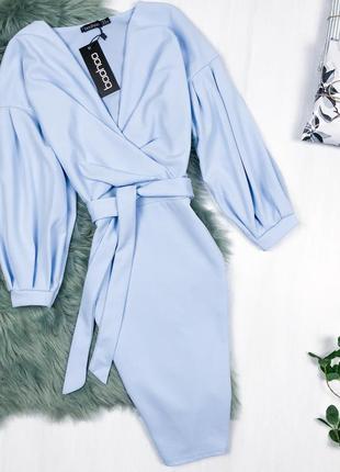 Розкішна сукня-трансформер \ платье трансформер цвета baby blue boohoo