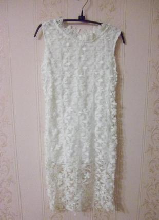 Красивое ажурное платье