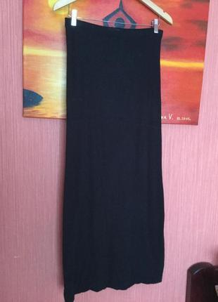 Длинная двойная юбка