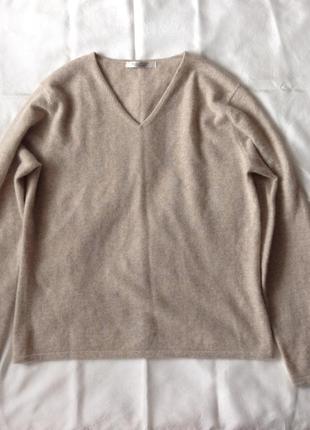 Роскошный кашемировый свитер. l-xl( пог-52). бежевый. кашемир 100%