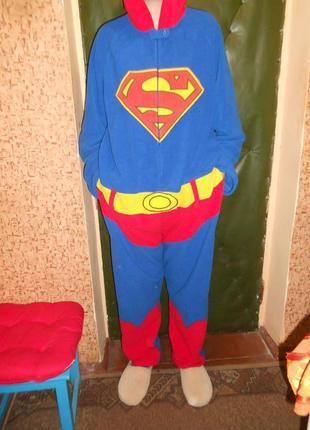 "Пижама кигуруми слип человечек ""superman"""