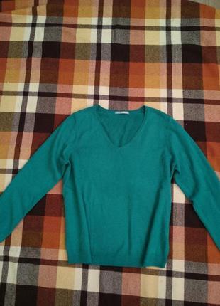 Зеленый теплый оверсайз свитер