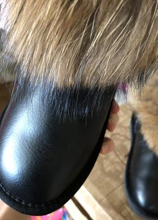 Зимние тёплые кожаные сапоги  ugg 39