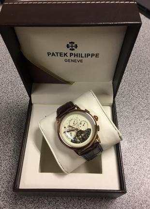Механические часы patek philippe white dial 2018 tourbillon| патек филипп 2018