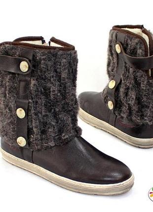 Зимние кожаные timezone ботинки 40,5 р оригинал германия