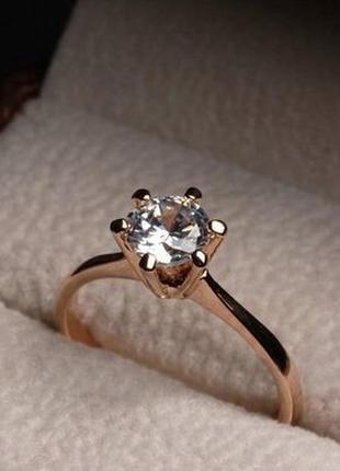 Кольцо с камнем кубический цирконий