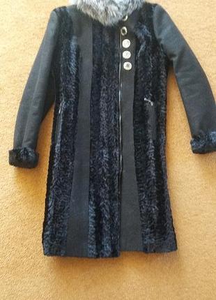 Пальто дубленка шуба с натуральным мехом
