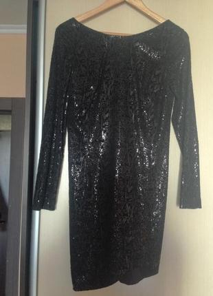 Вечернее платье в пайетках на корпоратив на новый год