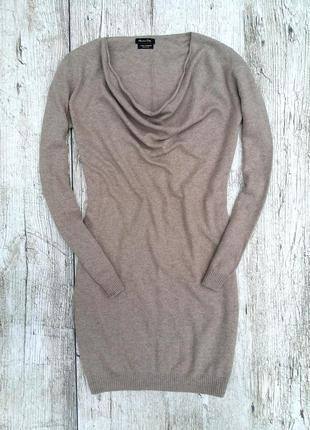 Massimo dutti тёплое шерстяное платье туника ( шерсть / кашемир . кофта джемпер свитер )