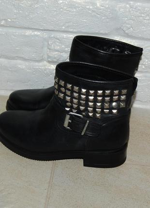 Ботинки кожа кожаные черные zign 37-38 р-р 24.2 см