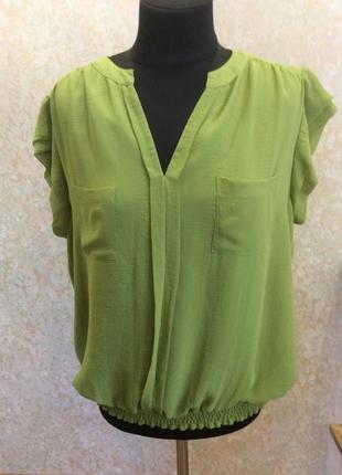 Блуза салатная шифоновая