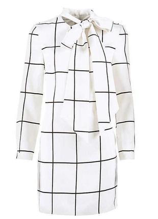 Новое роскошное дизайнерское платье от stacey solomon в клетку с бантом в стиле шанель