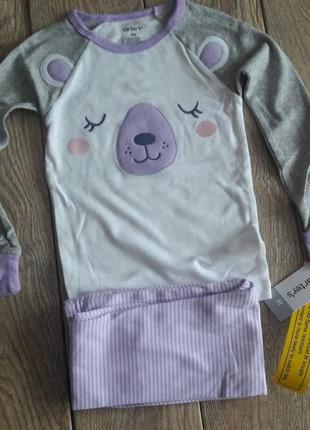 Пижама carters для девочки оригинал из америки. 4т.