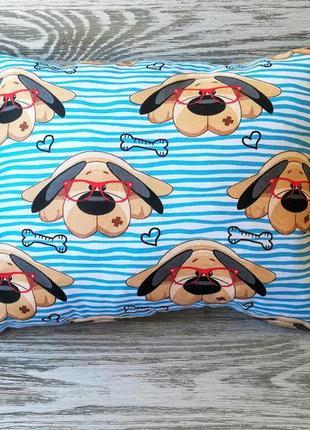 Подушка собачки в очках