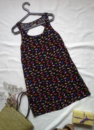 Платье с котиками и карманами в боковых швах
