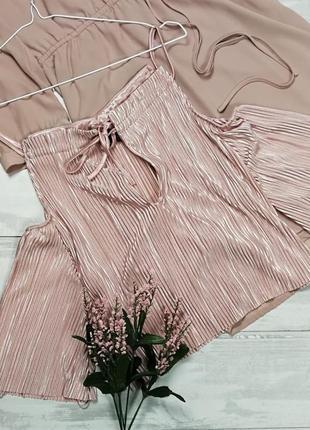 Нежно-розовый плиссированный топ в185014 love & other things размер s майка блуза