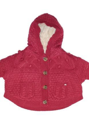 Новый свитер пончо на меховой подкладке для девочки, mayoral, 2361