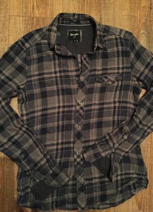 Стильная рубашка в клетку от wrangler s