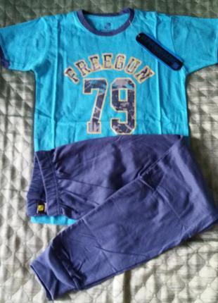 Костюм комплект летний 10лет пижама шорты футболка штаны футболка