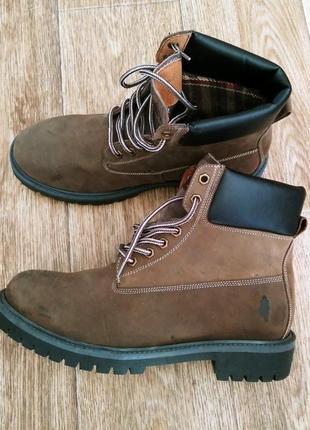 Новые ботинки итальянского бренда msc 42 43 натуральный нубук