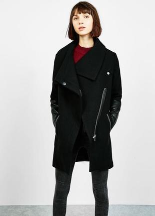 Пальто черного цвета bershka xs