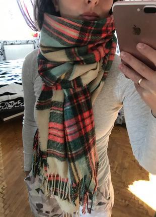 Большой палантин,тёплый палантин,шарф большой,объемный шарф